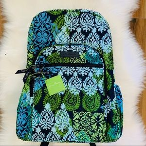 Vera Bradley campus backpack carribean sea blue